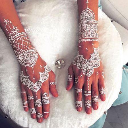 مدل تتوهای زیبا با حنا روی دست