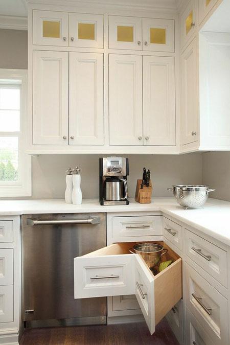مدل کابینت و کشو گوشه آشپزخانه