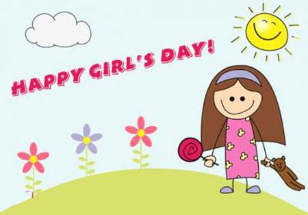 کارت پستال دختر 7 عکس نوشته دخترانه تبریک روز دختر + متن تبریک روز دختر از طرف پدر و مادر عکس