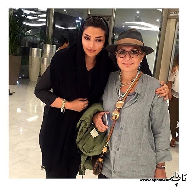 عکس بازیگر زن ایرانی در کنار گوگوش!