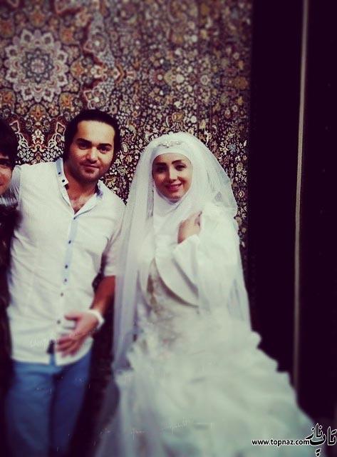 عکس های دیدنی مرجان سپهری در لباس عروس در کنار همسرش