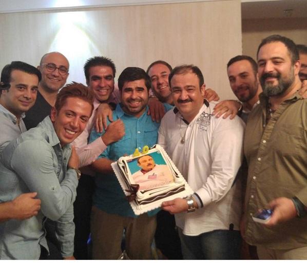 عکس جالب از جشن تولد مهران غفوریان