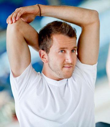 آموزش تصویری تمرینات کششی برای تقویت عضلات زیر بغل