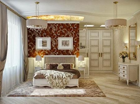 دکوراسیون سلطنتی اتاق خواب, چیدمان و دکوراسیون اتاق خواب