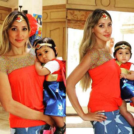 عکس جشن تولد میا دختر شادمهر عقیلی و عکس ملینا همسرش