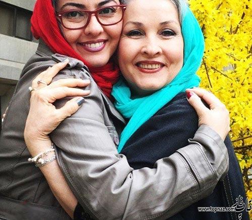 عکس جالب آناهیتا همتی در آغوش مادرش