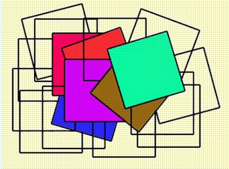 معمای تصویری پیدا کردن تعداد مربع ها