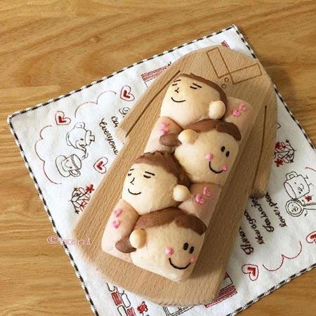 عکس های جالب از نان های فانتزی و زیبا