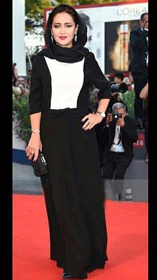 عکس های سلفی نیکی کریمی در اختتامیه جشنواره ونیز