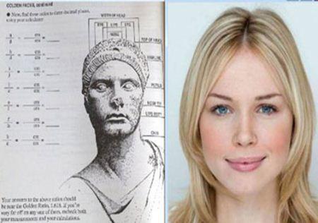 این خانم از نظر ریاضی دان معروف زیباترین چهره را دارد