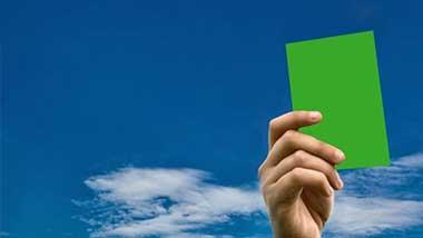 کارت سبز رنگ کارت جدید داوری در فوتبال