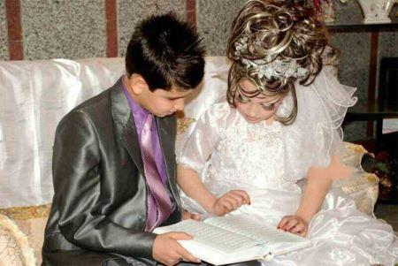 چیست عکس های جنجالی مراسم عروسی دختر و پسر بچه ایرانی