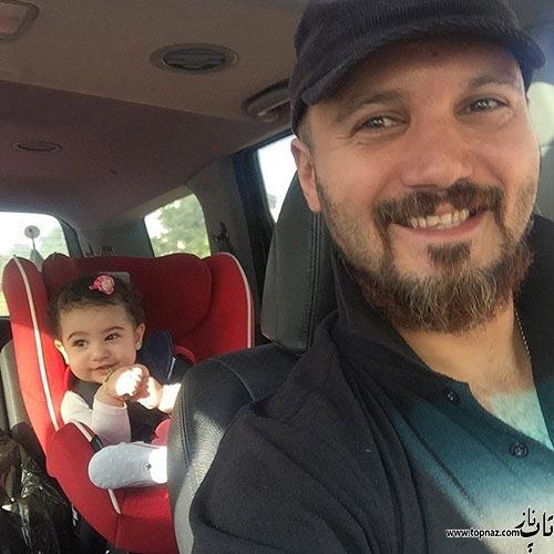 عکس جالب کامبیز دیرباز و دخترش نیاز
