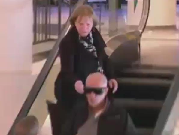کلیپ جالب و خنده دار دوربین مخفی پله برقی