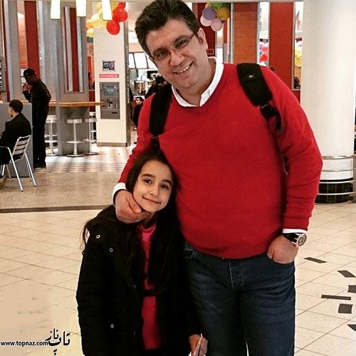 عکس دیده نشده رضا رشیدپور و دخترش