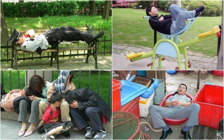 خوابیدن در خیابان