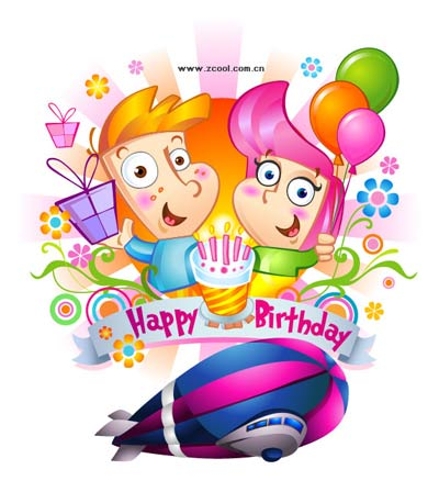 کارت پستال های زیبای فانتزی تبریک تولد کودک