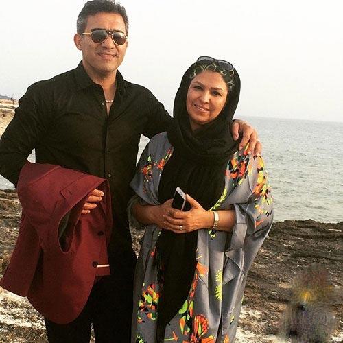 عکس عقاب آسیا احمدرضا عابدزاده در کنار همسرش