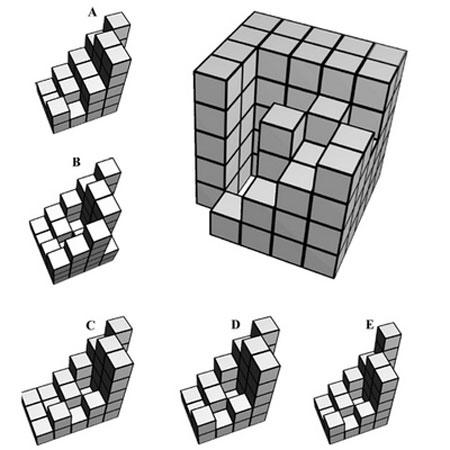تست هوش کامل کردن مربع