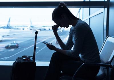 حل مشکل عوارض ناشی از پرواز با هواپیما