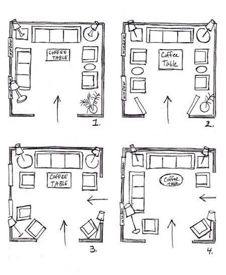 چیدمان و دکوراسیون اتاق نشیمن آپارتمان کوچک