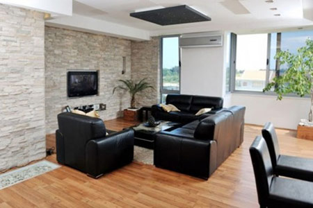 طراحی داخلی خانه, دکوراسیون سنگی اتاق نشیمن