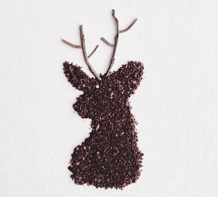 عکس های جالب هنرنمایی با دانه های قهوه