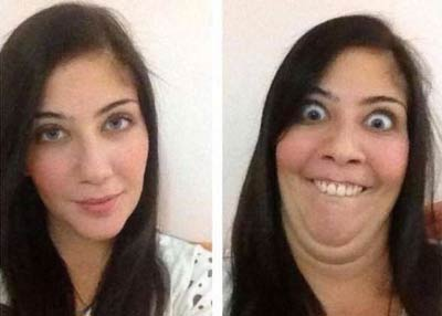 عکس های خنده دار از شکلک درآوردن دختران زیبا