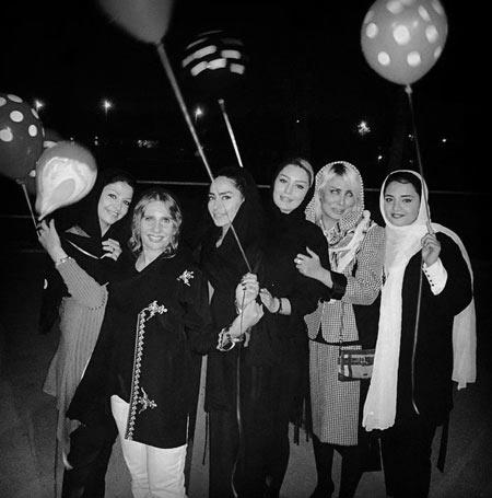 عکس سحر قریشی و نرگس محمدی در شب تولد سمانه پاکدل