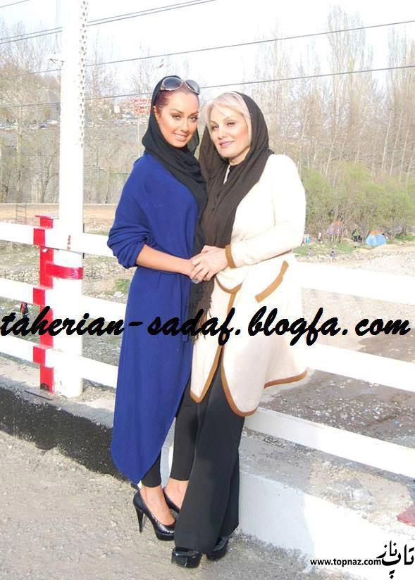 عکس های صدف طاهریان و مادرش قبل از بی حجاب شدن