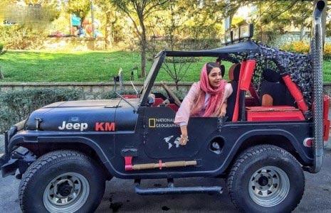 عکس خفن ماشین بازیگر زن ایرانی!