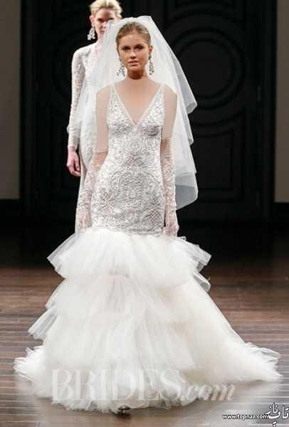 گالری مدل لباس عروس جدی دانتل 2016