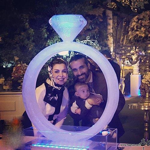 عکس ماه چهره خلیلی در کنار همسر و پسرش در حلقه عشق