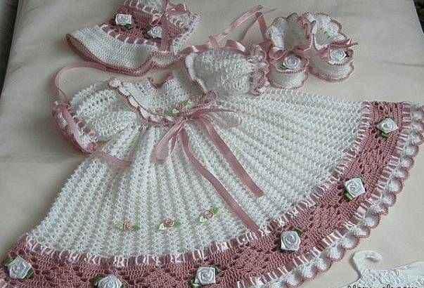 ست لباس بافتنی دخترانه