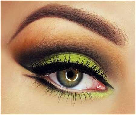 مدل آرایش ترکیبی چشم