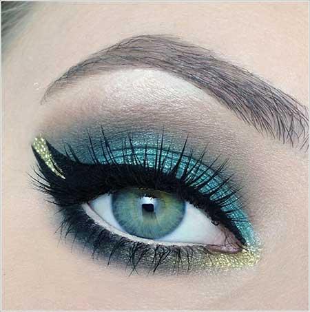 عکس هایی از نمونه های زیبای آرایش چشم