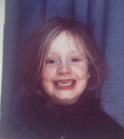 عکس کودکی ادل