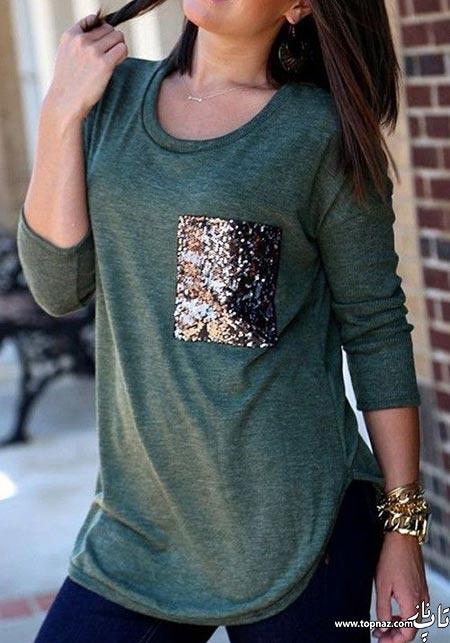 مدل بلوز آستین بلند شیک 2016 زیبا