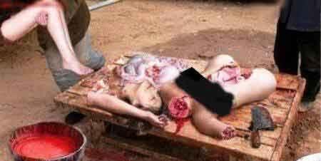 جنازه دختر,مرگ دختر,دختر لخت