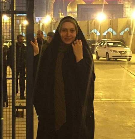 عکس فریبا نادری با چهره بدون آرایش در عراق