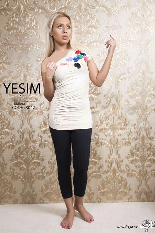 مدل لباس راحتی شیک دخترانه Yesim,ست تاپ و شلوارک