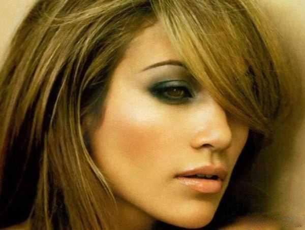 رنگ موی جنیفر لوپز - جدیدترین رنگ موی جنیفر لوپز - رنگ موی قهوه ای و بلوند جنیفر لوپز 2015- هایلایت و رنگ موی جنیفر لوپز