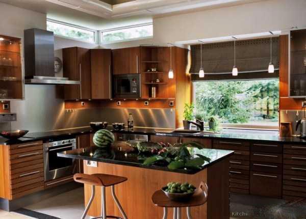 کابینت و دکوراسیون آشپزخانه -  مدل های جدید کابینت و دکوراسیون آشپزخانه 2016 -  کابینت ودکوراسیون آشپزخانه مدرن چوبی