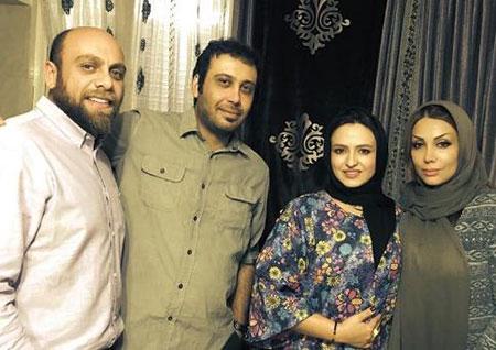 عکس محسن چاوشی و همسرش در کنار گلاره عباسی و شوهرش
