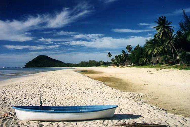 ساحل chumphon در تایلند