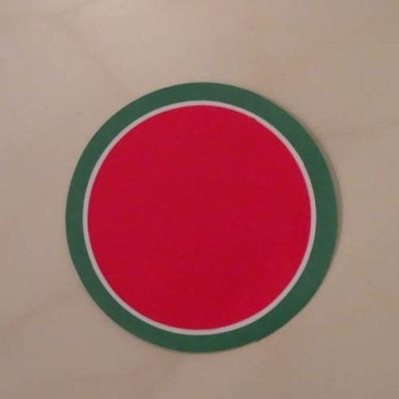 ساخت هندوانه کاغذی, نحوه ساخت کارت تبریک