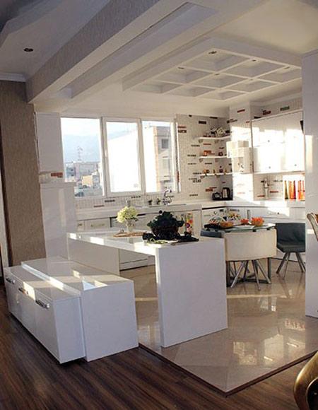 طراحی کابینت آشپزخانه, مدل اپن میز غذاخوری