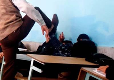 فیلم جنجالی تنبیه وحشیانه شاگرد توسط معلم در الیگودرز