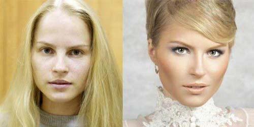 عکس های لو رفته از چهره دختران زیبای روسی بدون آرایش!