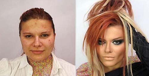 عکس از چهره بدون آرایش دختر روسی